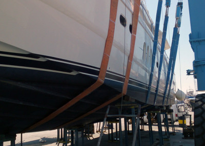 Σκάφος έτοιμο για καθέλκυση