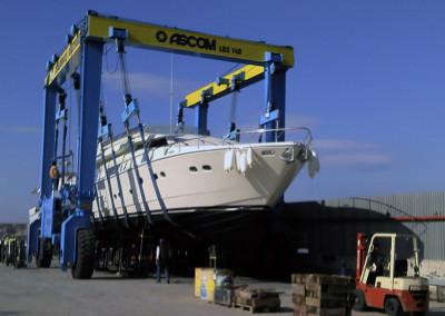 Διαδικασία στήριξης σκάφους